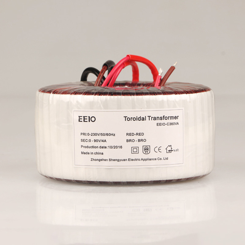 360W Isolated AC Ring Transformer AC 360V To AC 90V 4A Pure Copper Ring Power Transformer For Power Supply Amplifier magnetic mixing ink roller isolated ring