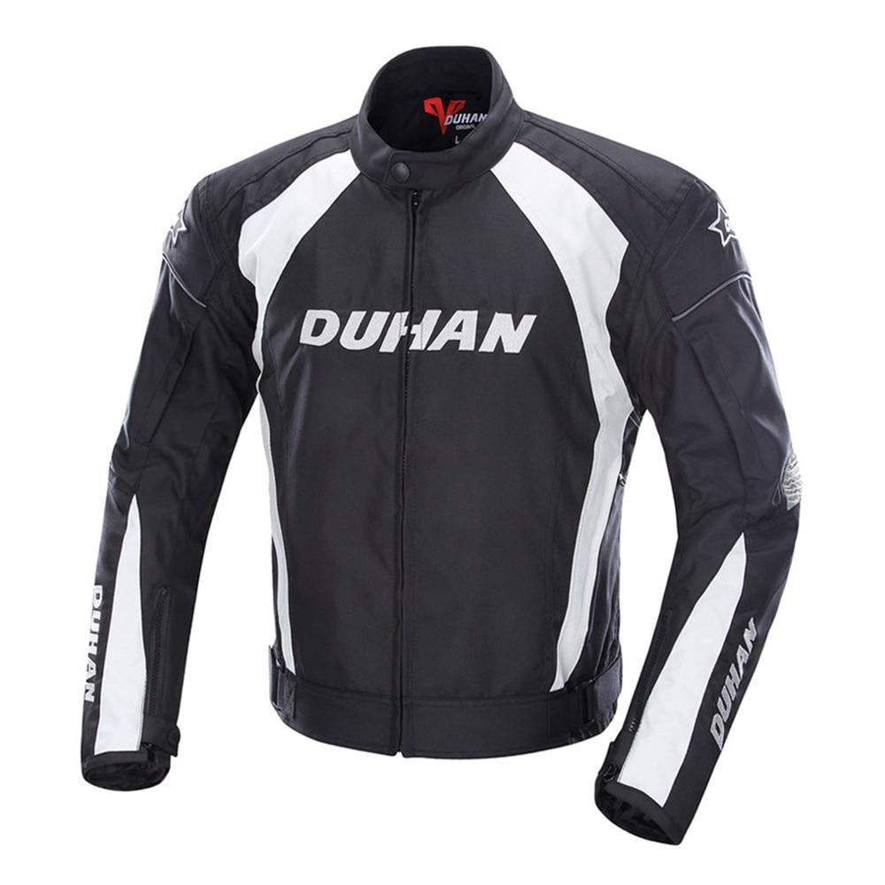 DUHAN veste de Moto hommes coupe-vent Moto Motocross veste vêtements équipement de protection avec cinq gardes de protection veste de Moto