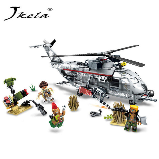 [Jkela] 340pcs Airplane Military Special Forces War Weapon Building Blocks Set Army Compatible Legoingly Figures Bricks toys military army war special police force ch 47 chinook helicopter building blocks sets bricks model kids toys compatible legoe