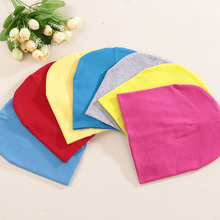 New Spring Autumn Cotton Baby Hat Cotton Candy Color Boy Girl Infant Caps Newborn Baby Beanies