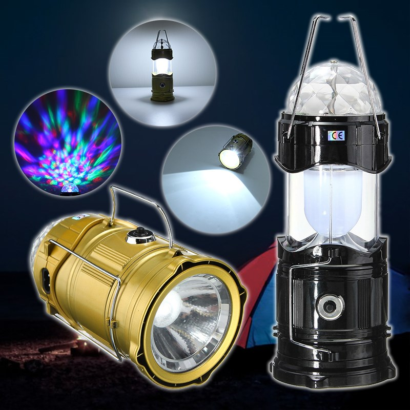 Portable RGB White Stage Light Voice Control Outdoor Camping Light Tent Collapsible Magic Ball Lamp Lantern Hiking EU Plug 5l collapsible water container portable outdoor camping bucket