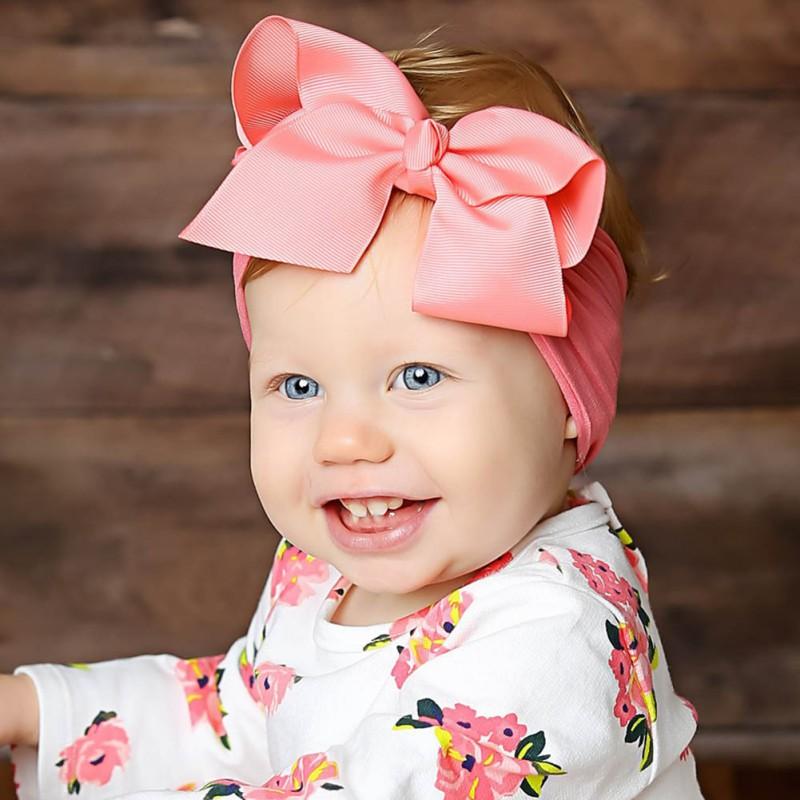 Baby Girls Infant Toddler Bow Headband Hairband Headwear Hair Decor Acces