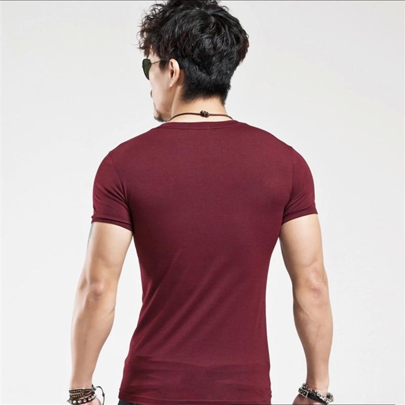Herre Pure Colour O-Neck T-Shirt Render Unlined Upper Garment T-Shirt - Herretøj - Foto 2