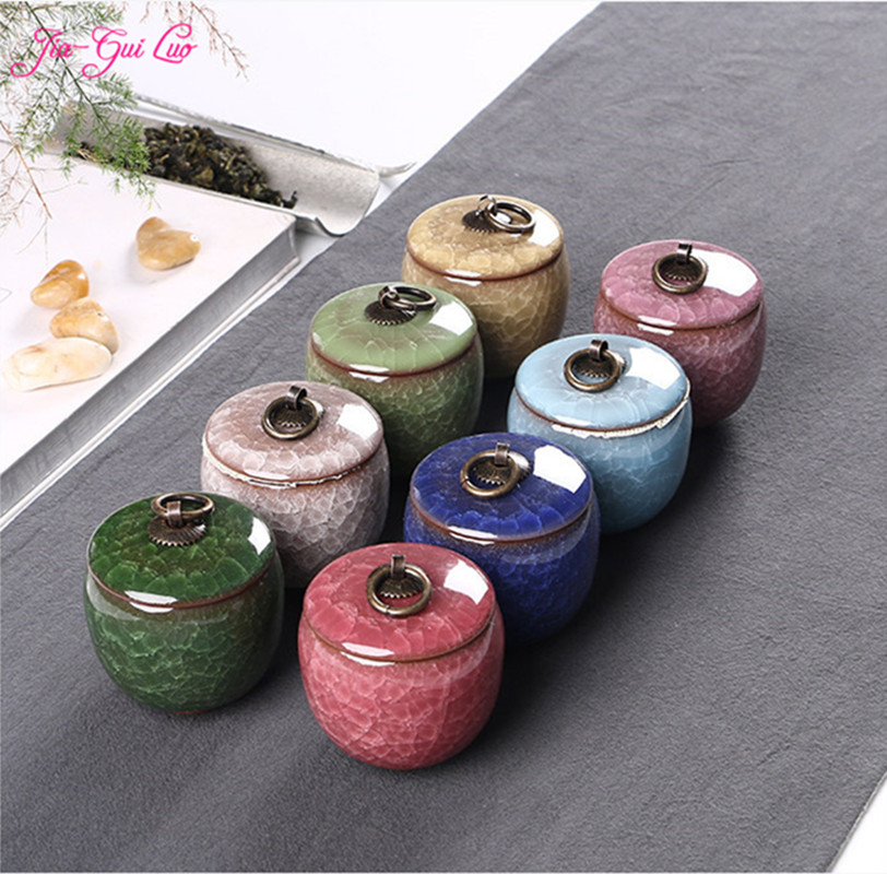 JIA-GUI LUO Ceramic Jar Tea Storage Box Sealed Cans Portable Travel Tea Accessories Kitchen Bar Supplies Storage Box D027