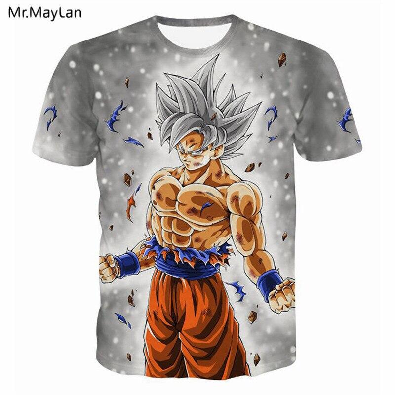 3D Print T-Shirts Dragon Ball Z Goku Mens Womens Tee Anime t shirt Casual Tops