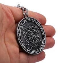 Game of Thrones Stark Silver Keychain
