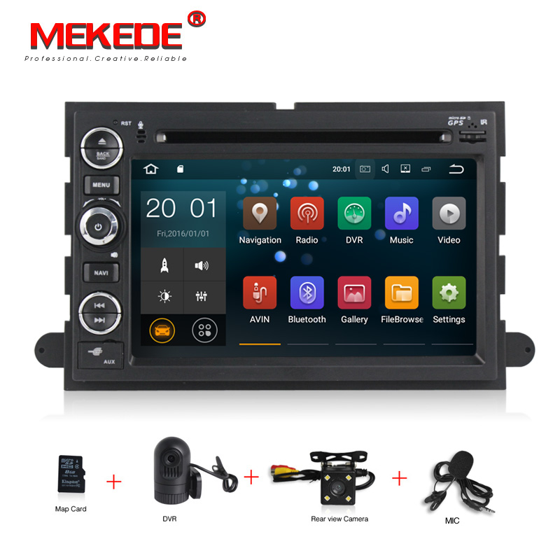 free shipping PX3 Quad core Android 7.1 car GPS Navigator For ford Fusion Mustang Explorer F350 F450 F550 mic gift