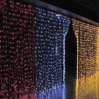 6 м x 3 м 600 LED свадьба свет сосулька Новогодние товары свет Гирлянды светодиодные Фея лампочку сад Шторы Декор 3X1.5 м 144 LED/3x3 м 300LED