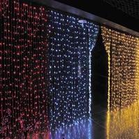 6 M x 3 M 600 LED Wedding Licht icicle Kerst Licht LED String Fairy Gloeilamp Tuin Gordijn Decor 3x1.5 M 144 LED/3x3 M 300LED