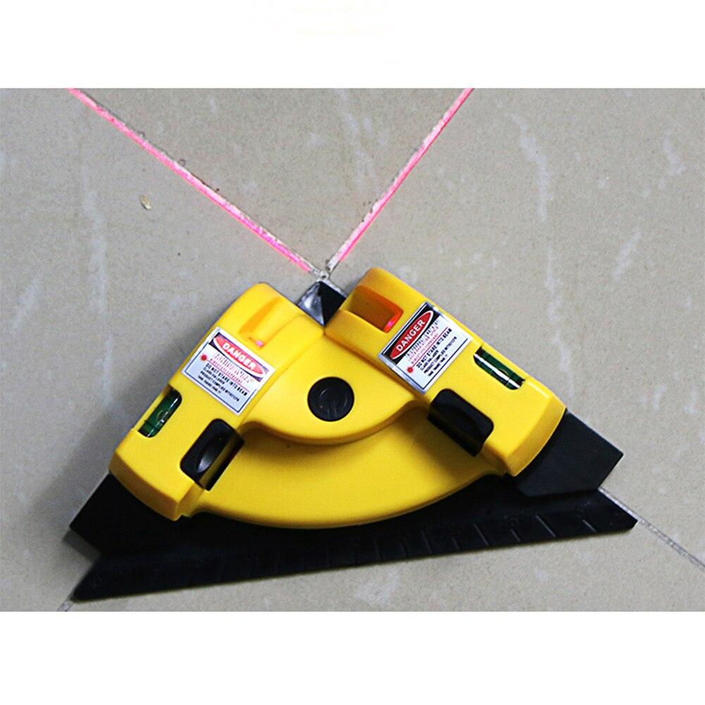 Nivel laser Nível Horizontal Vertical Linha de Projeção Ângulo Direito 90 graus O Layout Alinhamento Ferramenta Ferramentas De Medição