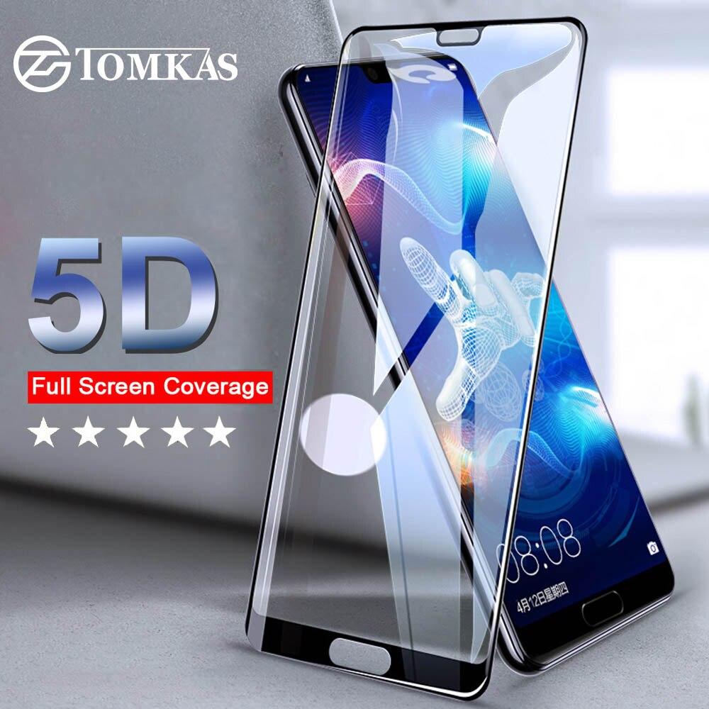 TOMKAS 5D זכוכית לכבוד 10 9 לשחק זכוכית מסך מגן עבור Huawei P20 P10 Mate 10 לייט P20 פרו P חכם מגן זכוכית סרט
