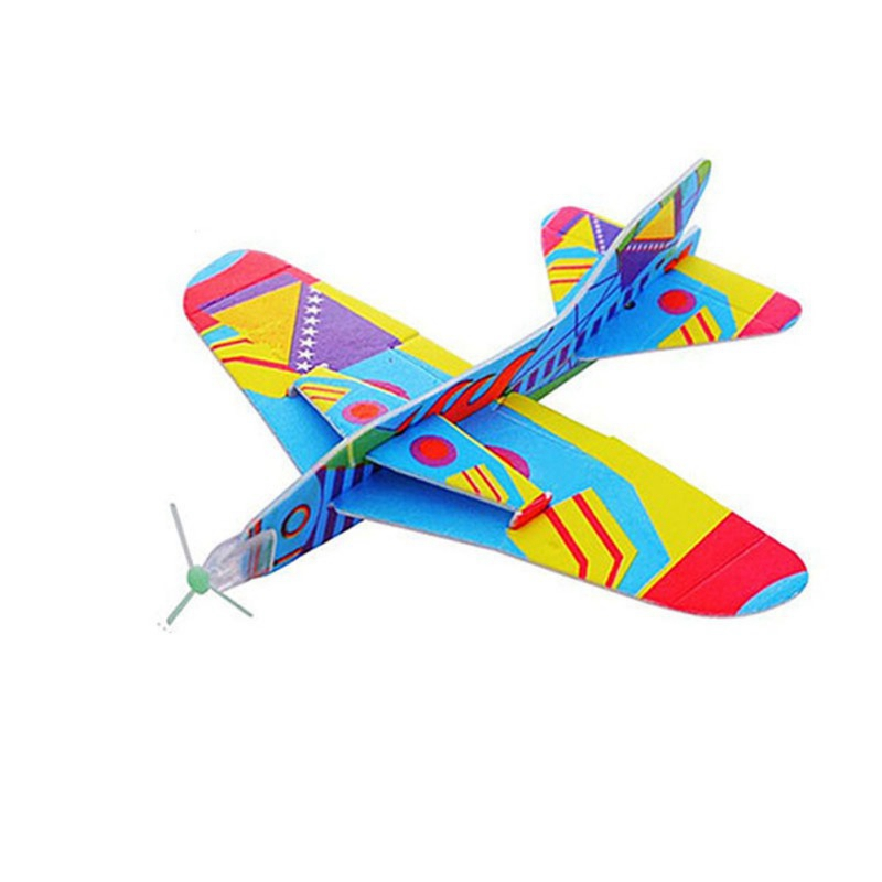 Creative Kids Toy Magic Roundabout Combat Aircraft Foam Paper Airplane Model Hand Throw Flying Glider Planes Toys For Children in Diecasts Toy Vehicles from Toys Hobbies