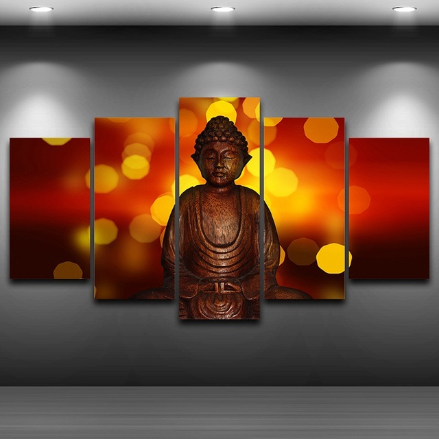 Buddha statue Framed wall art picture Spray Oil Painting Decoration ...