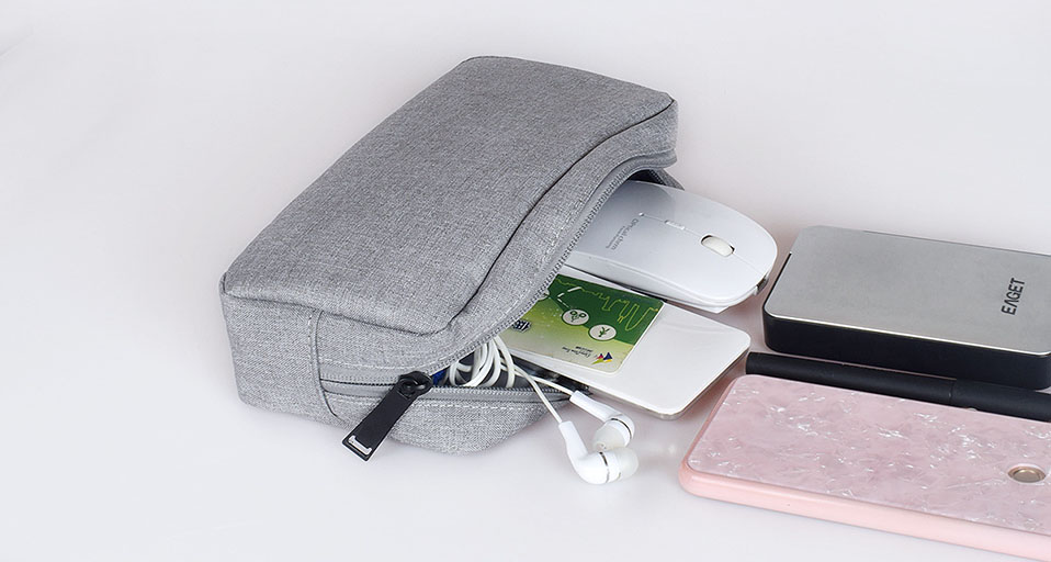 Travel Storage Portable Digital Accessories Gadget Devices Organizer USB Cable Charger Storage Case Travel Cable Organizer Bag (16)