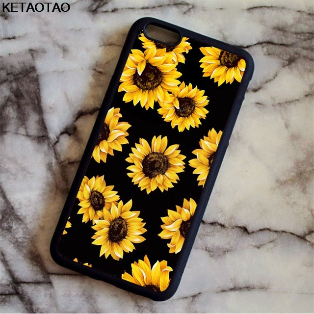 new product 7e548 fa3cc US $3.69 26% OFF|KETAOTAO Cute Summer Daisy Sunflower Floral Flower Phone  Cases for iPhone 4S 5C 5S 6 6S 7 8 Plus X Case Soft TPU Rubber Silicone-in  ...