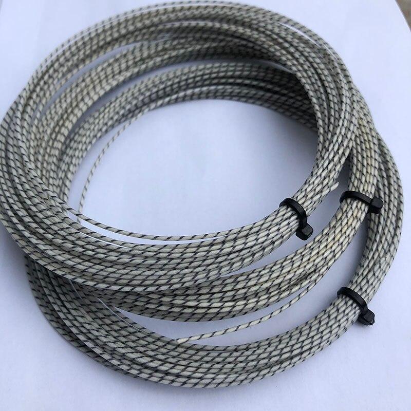 (2pcs/lot) ZARSIA Tennis Nylon Composite Filament Tennis Racket Strings Multifilament Elastic Tennis Woven String 12M