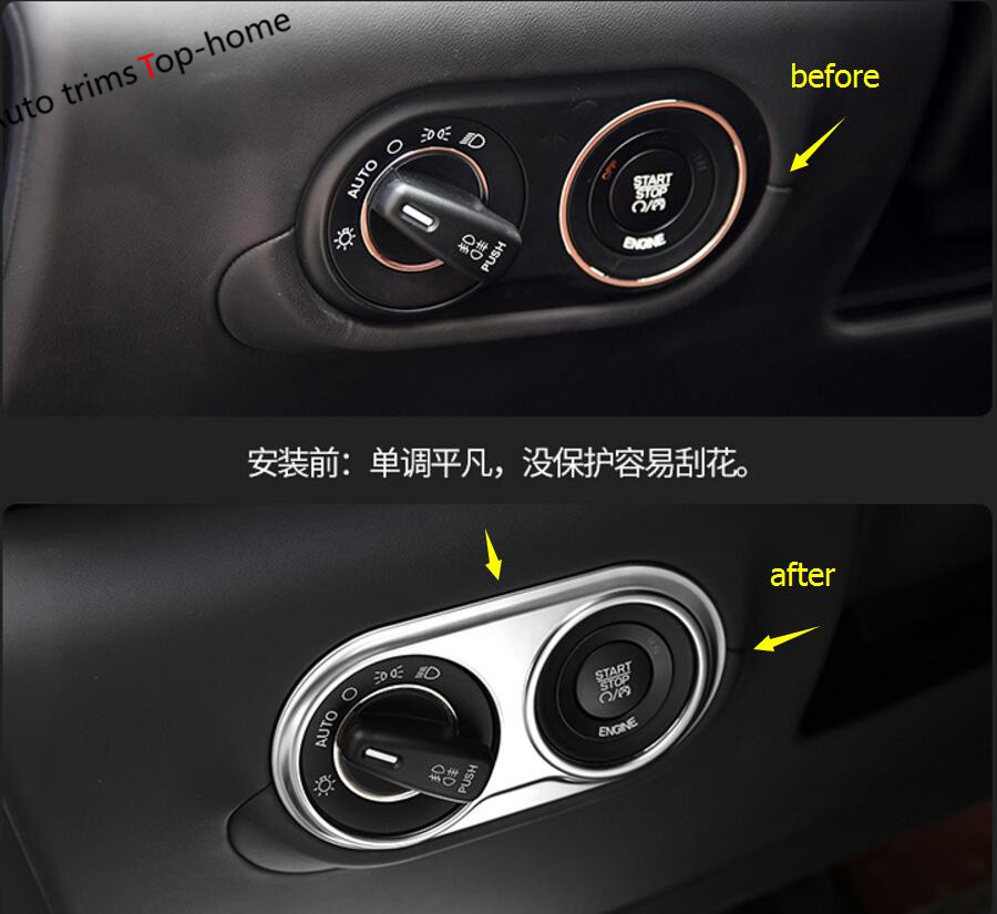 2018 Maserati Levante Interior: Yimaautotrims Head Lights Lamp Switch Button Frame Cover