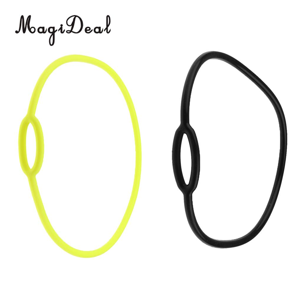 MagiDeal Scuba Diving Dive Silicone Regulator Necklace Holder Accessories 72cm Yellow/62cm Black цена