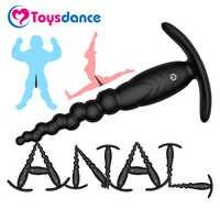 Vibromasseur Anal en Silicone à 9 vitesses Toysdance pour débutant Rechargeable puissant perles anales jouet sexuel Masturbation adulte masseur d'anus