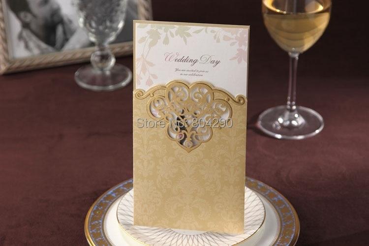 New Elegant Flower Laser Cut Romantic Pink Wedding Invitations Card 25pcs Lot Free Shipping