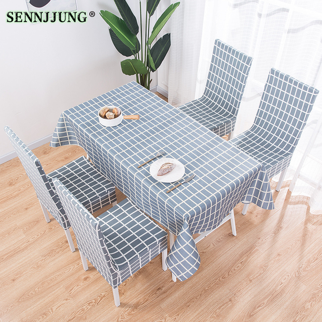 Garden Cotton Small Fresh Table Cloth Modern Dining Table Chair