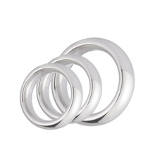 1PC Stainless Steel Penis Ring Metal Impotence Erection Aid Performance Enhancer Delay Ejaculation Sex Toys for