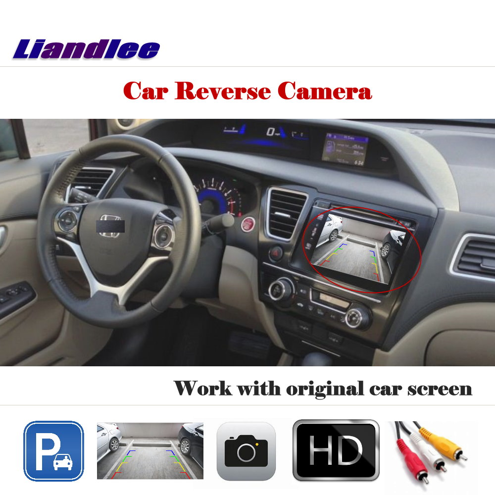 Auto Reverse Rear Camera For Honda Civic 2012 2013 2014 2015 HD CCD Backup Parking Camera Work With Car Factory Screen
