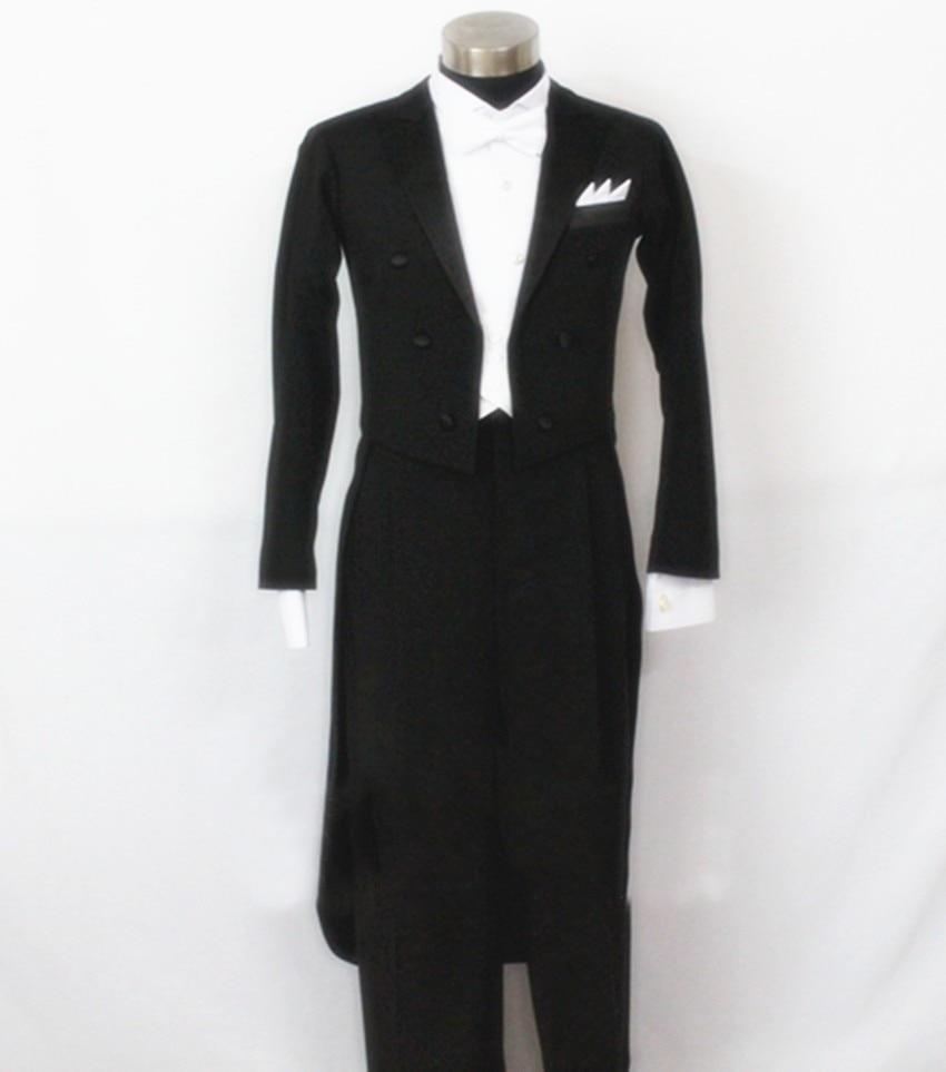 Ballroom Dancing Retail Customized Men Ballroom Tail Suit International Standard Dance Set 5pcs