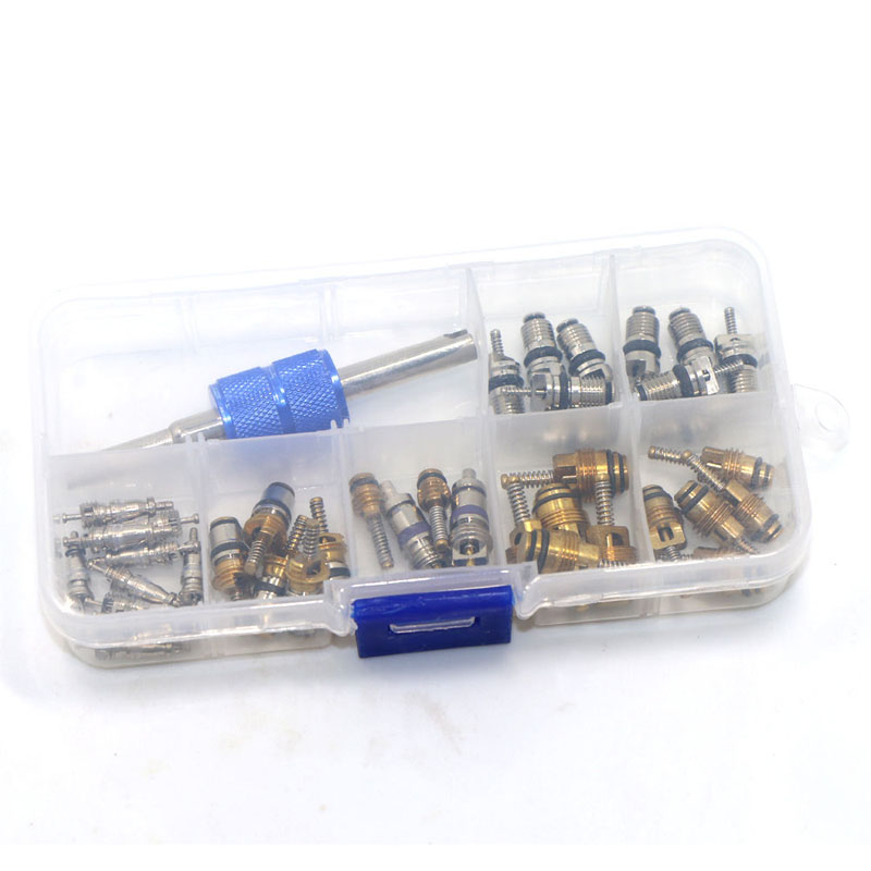 R12 R134A Car Air Conditioning A/C Tire Valve Stem Core Remover Tool Kit 39Pcs