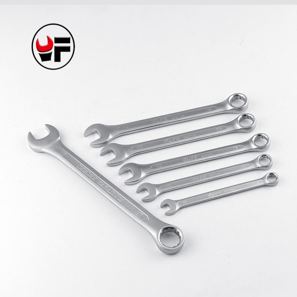 YOFE 8,10,12,13,14,17mm Combination box open end Concave rib tool wrench quality tools gear a set of keys wrench tools