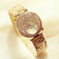Luxury Women Watches Ladies Fashion Rhinestone WristwatchDiamond Big Dial Clock Quartz Watches Relogios Femininos