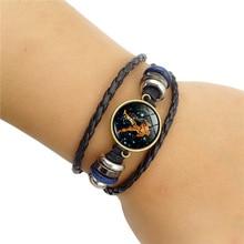 Zodiac Signs Unisex Leather Bracelet