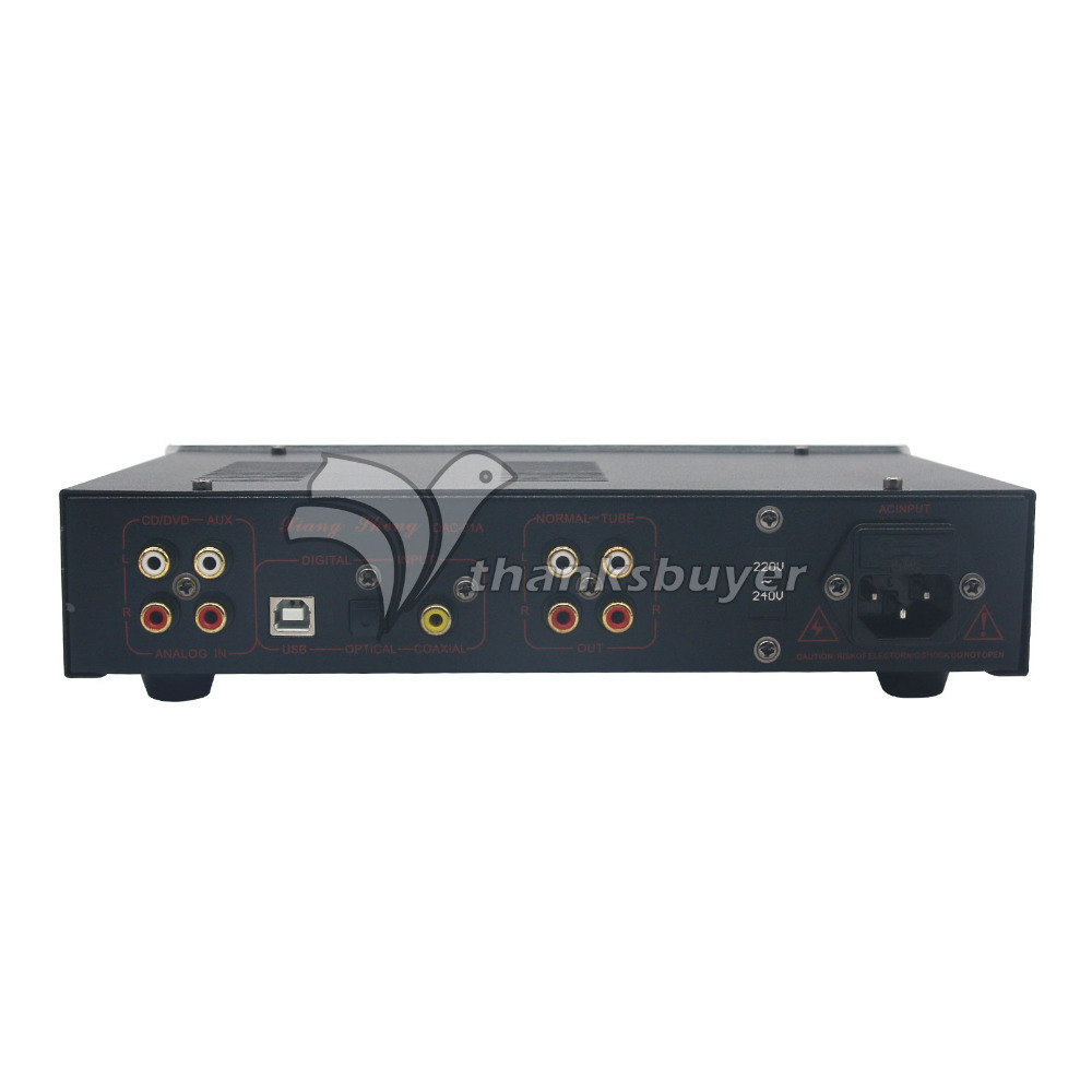 XiangSheng DAC-01A DAC Tube 24Bit 192Khz USB Decoders/Headphone/PreAmplifier