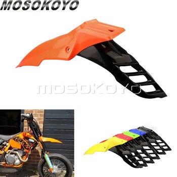 цена на Orange+Black Supermoto Front Fender Universal Dirt Pit Bike Mudguard Motocross Mud Guards for KTM EXC EX XC XCF