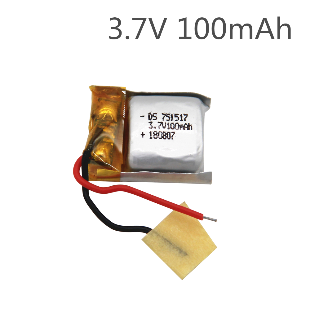 3.7v 100mah 20c for Cheerson CX-10 cx10 CX12 JJ810 JJ820 V646 V676 RC Helicopter/RC quadcopter 3.7 V 100mah Li-po battery 751517