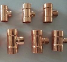 5PCS/LOT  Inner D:16/8mm   International Standard Copper Welding  Tee Pipe Head Refrigeration Accessories все цены