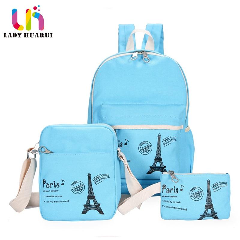 2018 New Women High Capacity Backpack With  School Bags For Teenagers Girls Backpacks Dots Printing Bookbag Cute Back Pack Q3