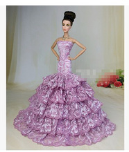 High quality Handmade Gifts For Girls Slim Evening Suit Wedding Fishtail skirt Dress Clothes For Barbie