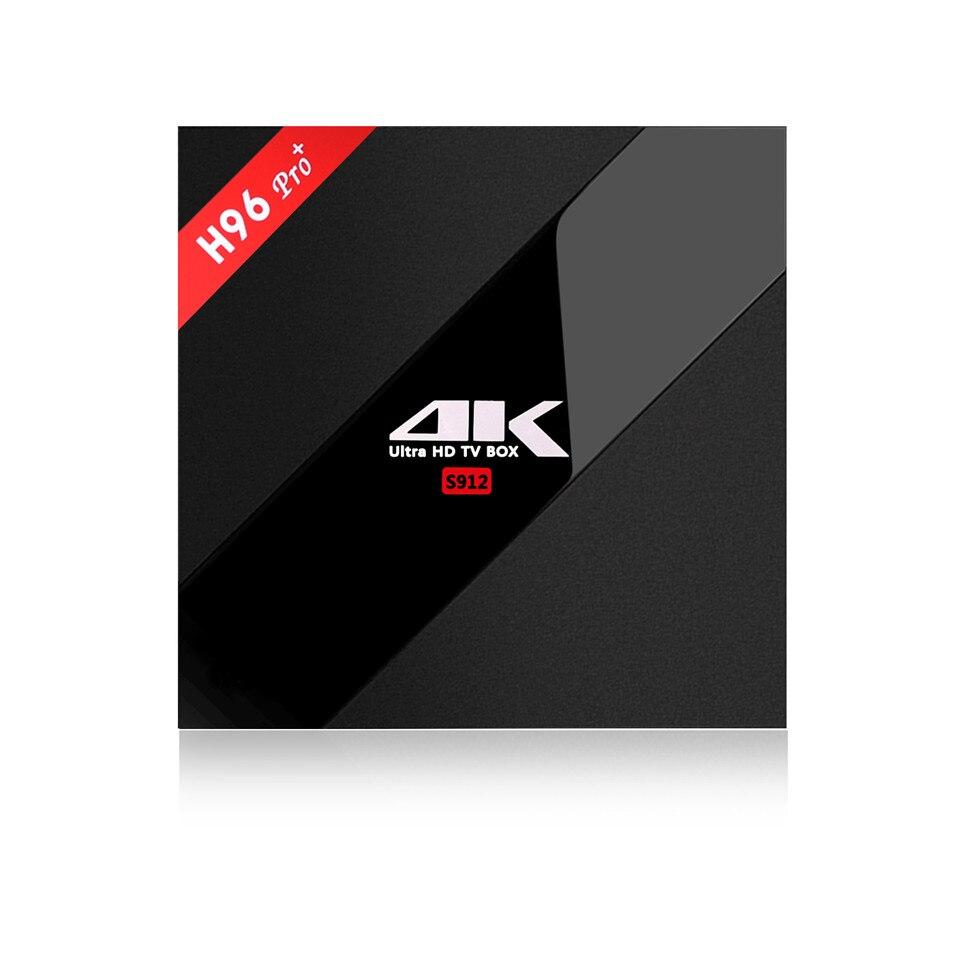 H96 PRO Android 7.0 TV Box Amlogic S912 Octa Core 3G/32G plus Mini Keyboard WiFi 2.4G/5.8G H.265 BT4.1 KODI 16.1 H.265 4K Player