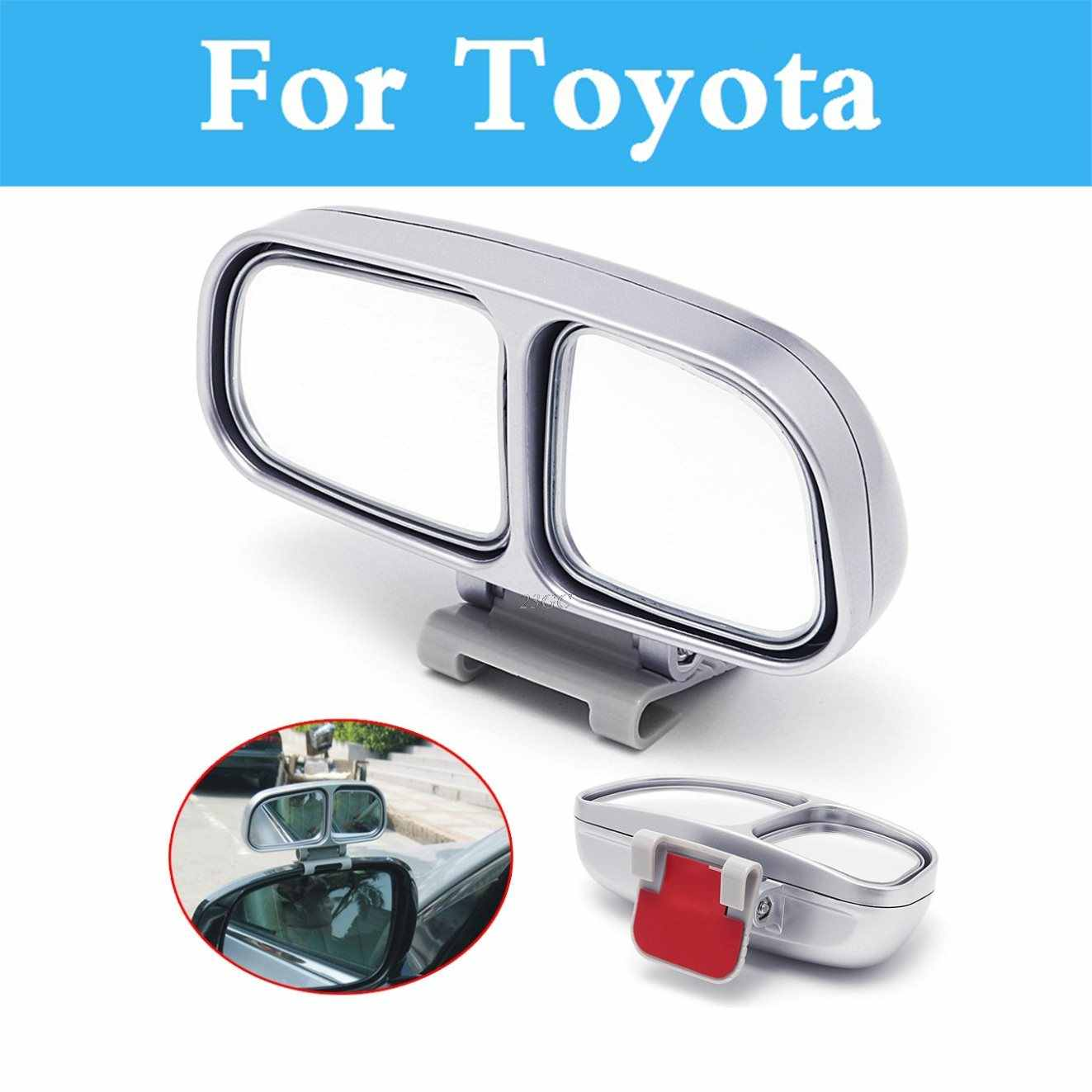Auto Wide Angle Rear Side Blind Spot Square Mirror For Toyota Cruiser Fortuner GT86 Corolla Runx FJ Harrier Corolla Rumion