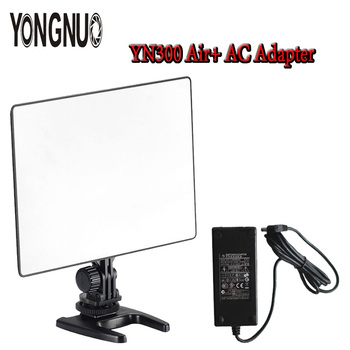YONGNUO Ultra Thin YN300 air Pro LED Camera Video Light 3200K-5500K with AC Adapter For Canon Nikon Camera DSLR & Camcorder
