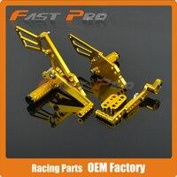 CNC Motorcycle Adjustable Billet Foot Pegs Pedals Rest For SUZUKI GSXR1000 GSX1000R GSXR 1000 2009 2010