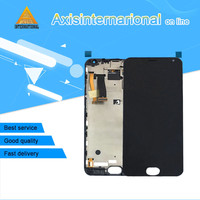 For 5.5'' Meizu MX5 MX 5 Axisinternational LCD screen display+touch panel digitizer with frame white/ black free shipping