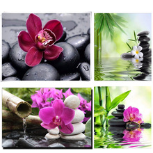 DIY Diamond Embroidery Orchid stone Square Pattern Rhinestone Sets Diamond Painting Cross Stitch Wall Decor Needlework DMC