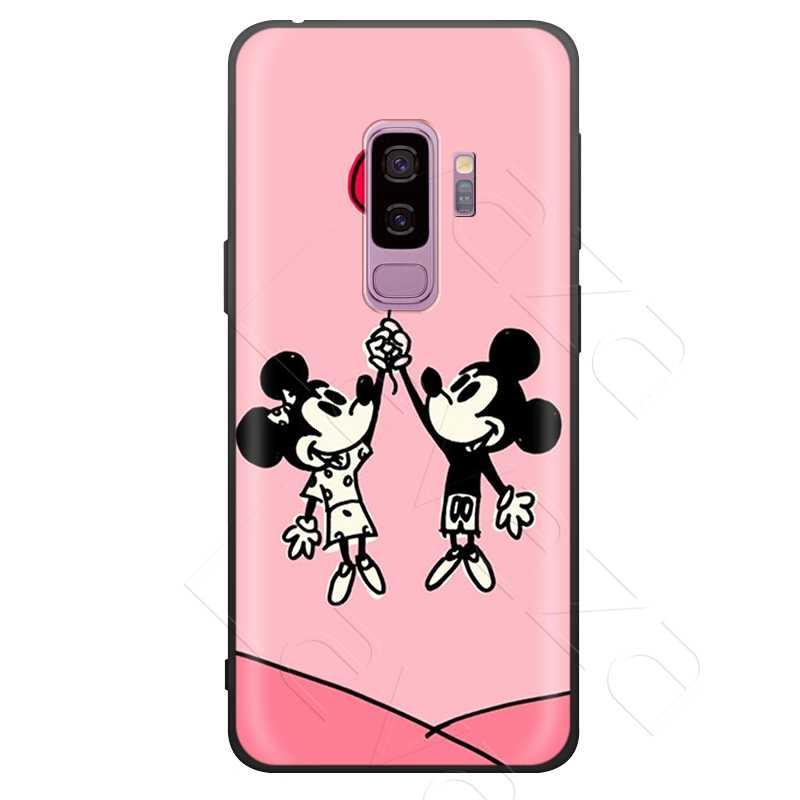 Lavaza Beijando Mickey Minnie Caso Do Rato para Samsung Galaxy Nota 10 Plus A10 A30 A40 A50 A70 M20 A20 A20S a10S A30S A50S