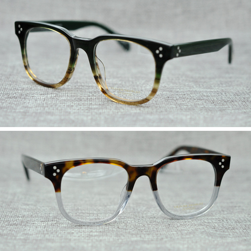 f5cd9f1d2d6 Acetate Eyewear Frame Fashion Round Oliver Peoples Computer Prescription  Clear Myopia Optical Eyeglasses Frames For Women  68008