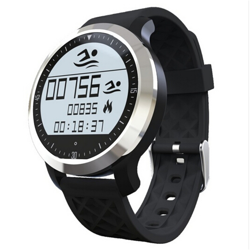 ФОТО Sport Swimming Waterproof Bluetooth Smartwatch F69 Pulsometer Smart Watches For Apple iPhone Android Heart Rate Monitor Watch