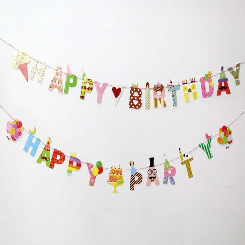 happy birthday letter banner aliexpress buy birthday banners happy 8105