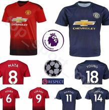 efc31e417 2018 2019 Optimum quality Manchesteers United Adlut soccer Jerseys  camisetas shirt survetement man Football shirt(