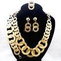 Garantia de Qualidade superior!! 18KGP Conjunto de Jóias de Casamento de Luxo Mulher Grandes Conjuntos de Jóias de Ouro